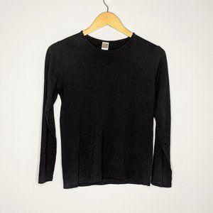 Lilith France Vintage Black Long Sleeve Wool Shirt